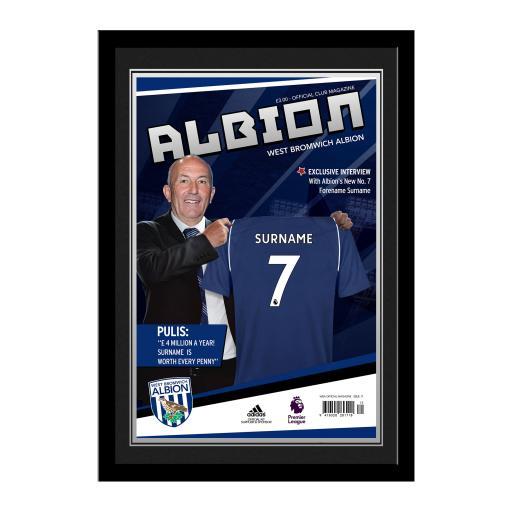 West Bromwich Albion FC Magazine Front Cover Photo Framed