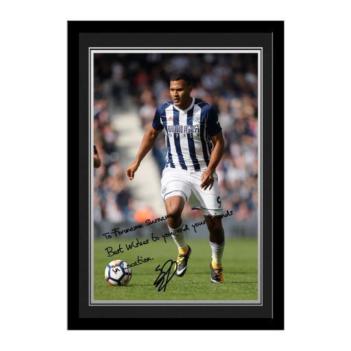 West Bromwich Albion FC Rondon Autograph Photo Framed