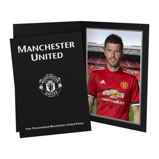 Manchester United FC Carrick Autograph Photo Folder