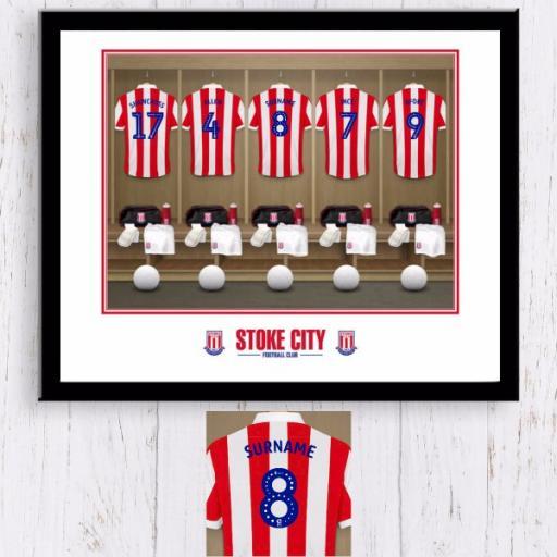 Stoke City Dressing Room Framed Print