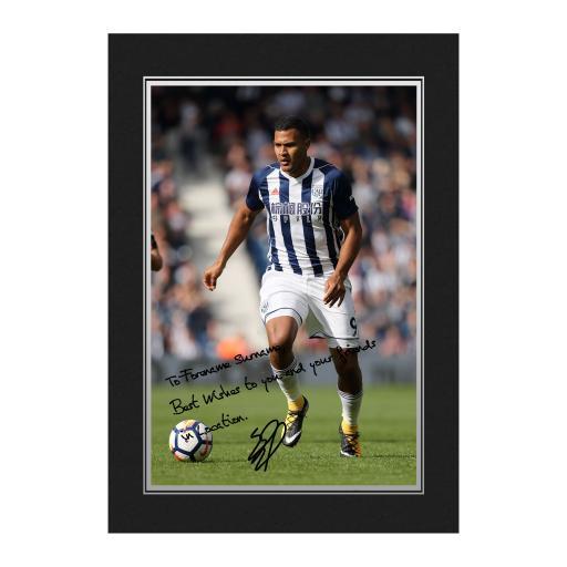 West Bromwich Albion FC Rondon Autograph Photo Folder
