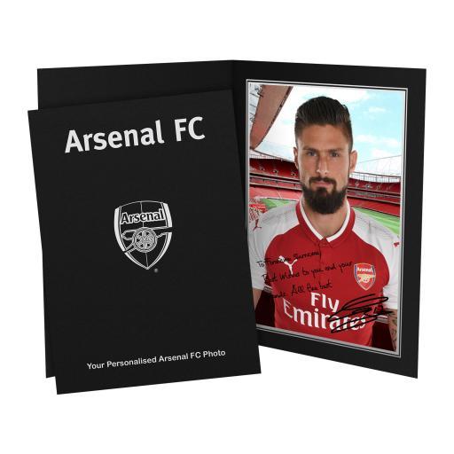 Arsenal FC Giroud Autograph Photo Folder