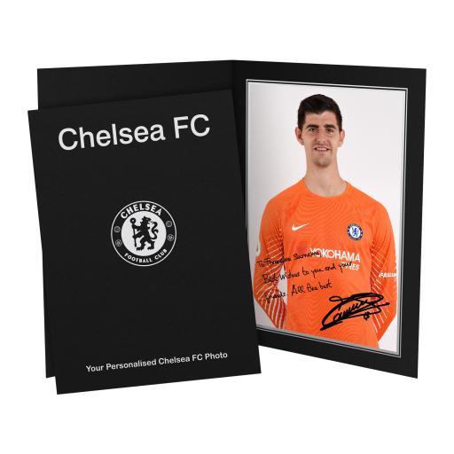 Chelsea FC Courtois Autograph Photo Folder