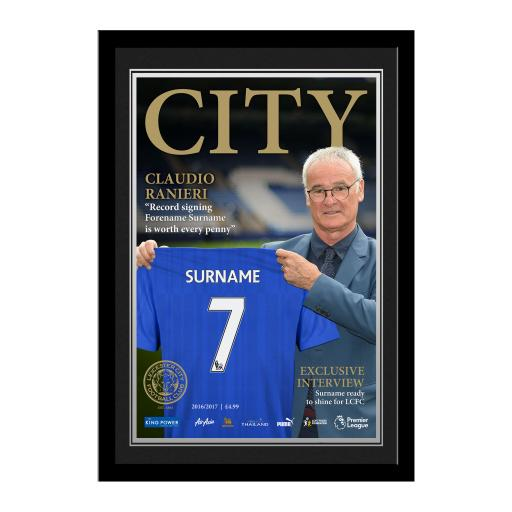 Leicester City FC Magazine Front Cover Photo Framed