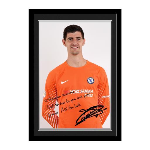 Chelsea FC Courtois Autograph Photo Framed