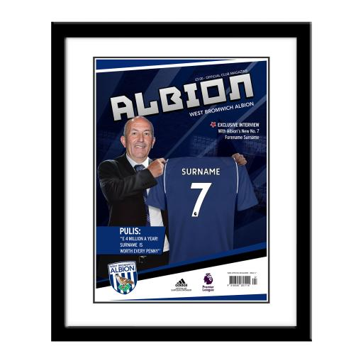West Bromwich Albion FC Magazine Front Cover Framed Print
