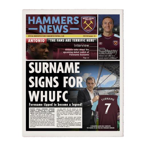 West Ham United FC News Single Page Print