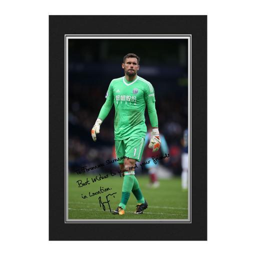 West Bromwich Albion FC Foster Autograph Photo Folder