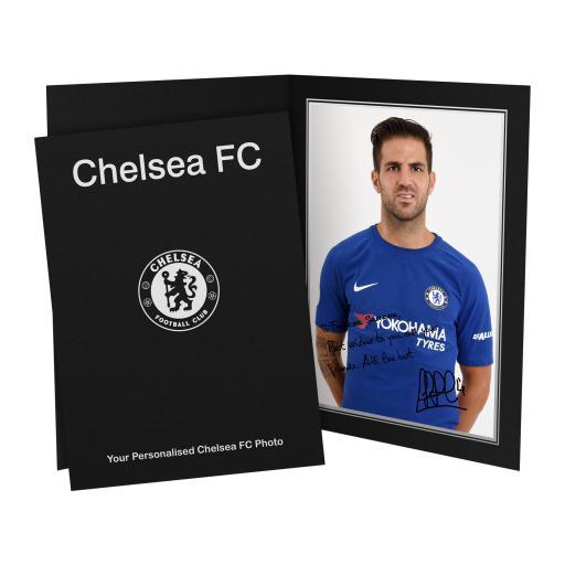 Chelsea FC Fabregas Autograph Photo Folder