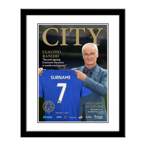Leicester City FC Magazine Front Cover Framed Print