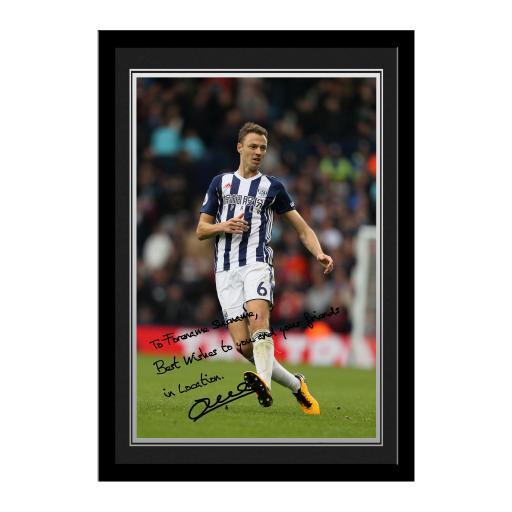West Bromwich Albion FC Evans Autograph Photo Framed