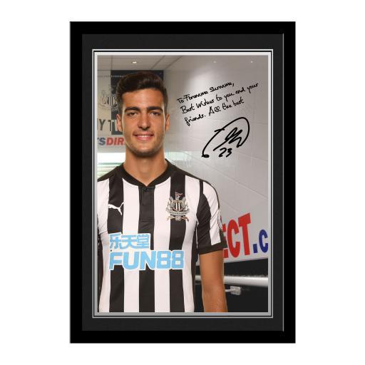 Newcastle United FC Merino Autograph Photo Framed