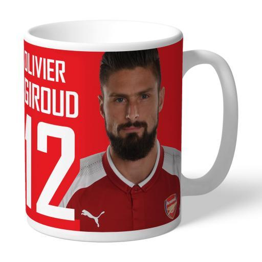 Arsenal FC Giroud Autograph Mug