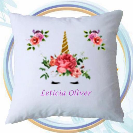 Personalised Cushion Cover with Dreamy Unicorn Design – Add Name