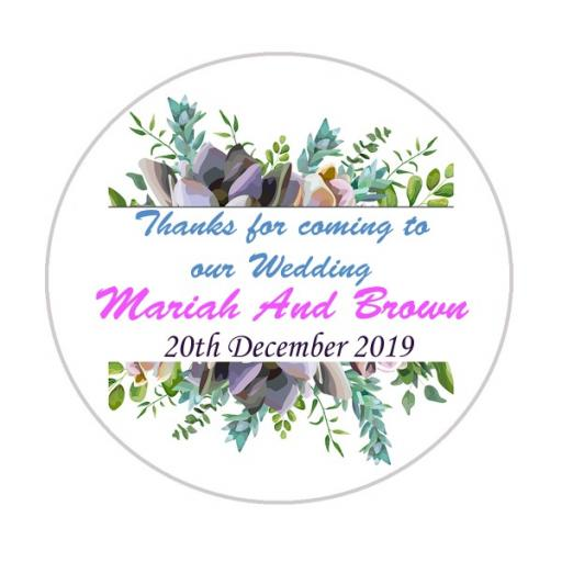 Personalised Labels/Invitations/Stickers - Text with Rustic Garland