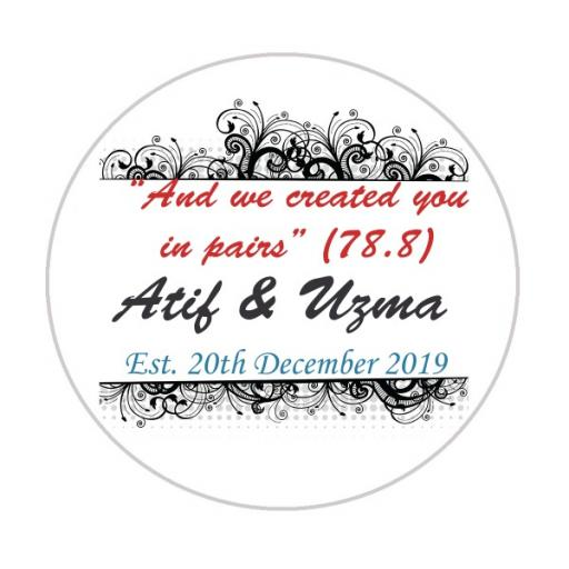 Personalised Labels/Invitations/Stickers - Text with Vector Borders