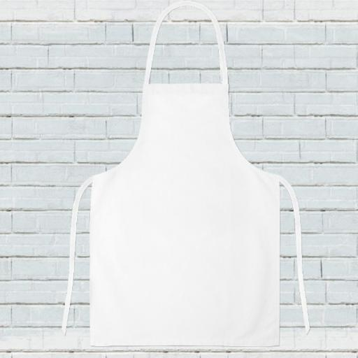 Personalised Photo Upload Text Apron Make your own