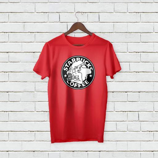 Personalised Text Star Bucks Coffee T-shirt (4).jpg