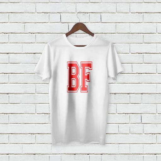 Personalised Boy Friend BF T-Shirt - Add Your Text/Name