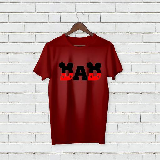 Personalised Text Dad Father Micky Mouse inspired love tshirt (2).jpg
