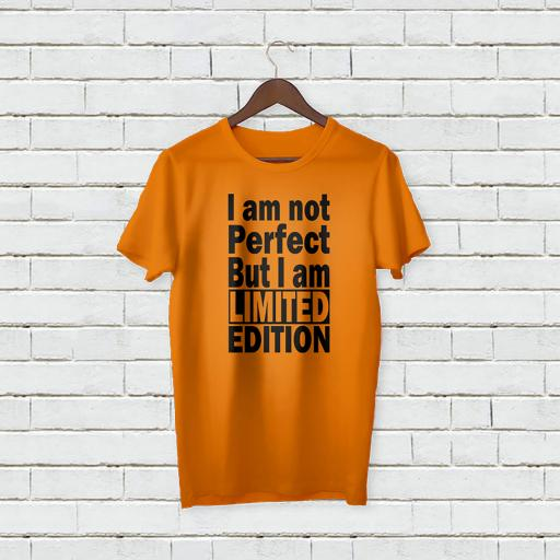 Personalised 'I am not Perfect But limited Edition' T-Shirt - Add Your Text/Name