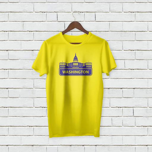 Personalised Washington City T-Shirt - Add Your Text/Name