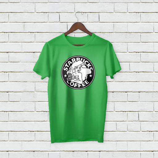 Personalised Text Star Bucks Coffee T-shirt (1).jpg