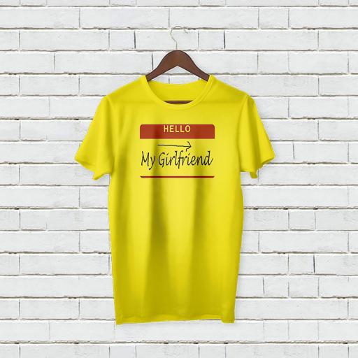 Personalised Text Hello My Girlfriend T-shirt (1).jpg