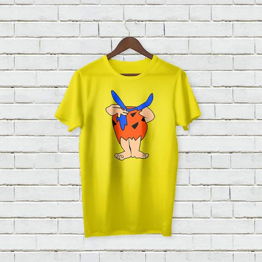 Personalised Text Funny Cartoon Without Face Logo T-Shirt (1).jpg