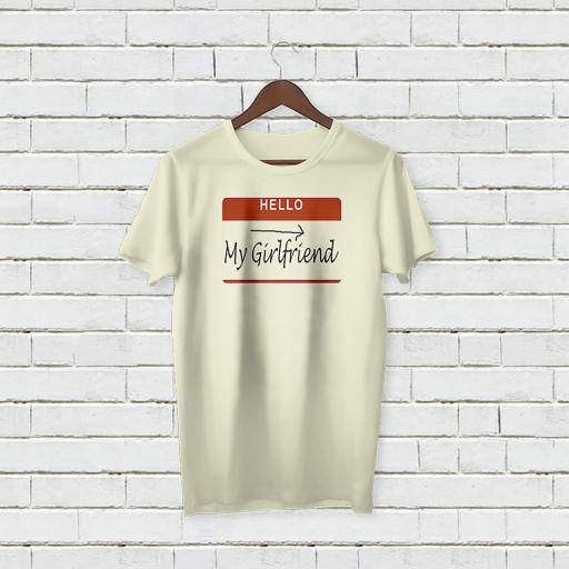 Personalised Text Hello My Girlfriend T-shirt (4).jpg