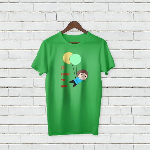 Personalised Text I'll Come to you T-shirt with balloons (2).jpg