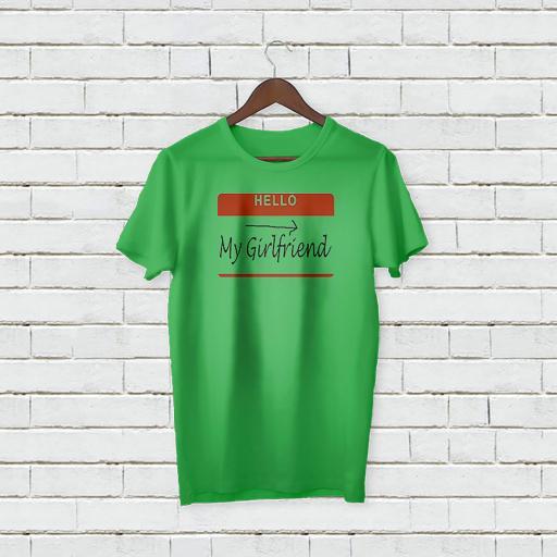 Personalised Text Hello My Girlfriend T-shirt (3).jpg