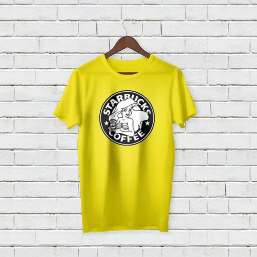Personalised Text Star Bucks Coffee T-shirt (3).jpg