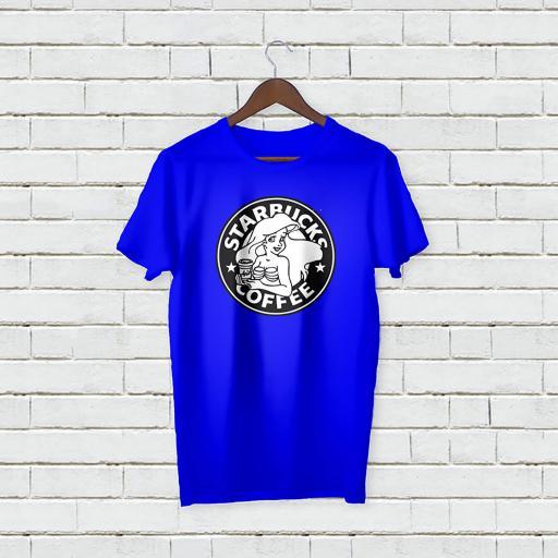 Personalised Text Star Bucks Coffee T-shirt (2).jpg