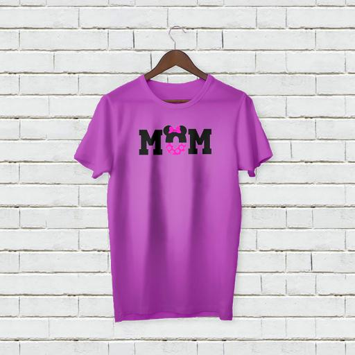 Personalised Minnie Mouse Mom Logo T-Shirt - Add Your Text/Name
