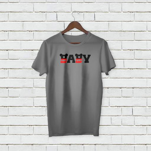 Personalised Text Funny Baby Micky Mouse T-Shirt (4).jpg