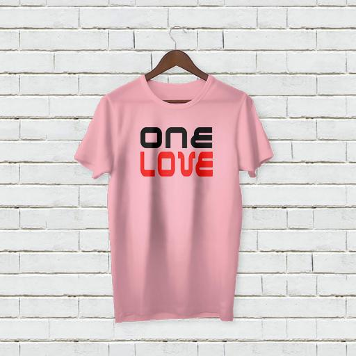 Personalised Text One Love logo On T-Shirt (2).jpg