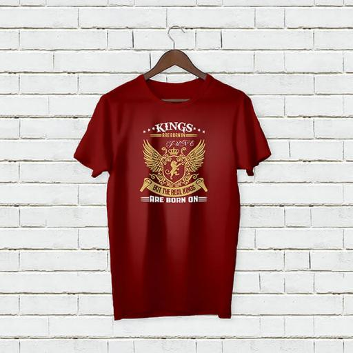 Personalised Birthday Text Kings Are Born on T-Shirt (1).jpg