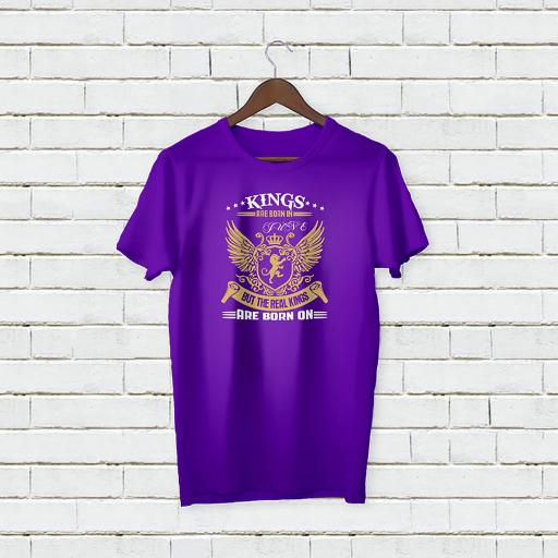 Personalised Birthday Text Kings Are Born on T-Shirt (3).jpg