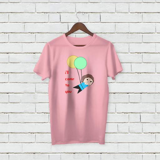 Personalised Text I'll Come to you T-shirt with balloons (3).jpg