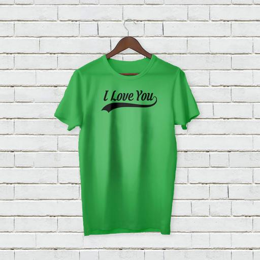 Personalised 'I Love You' T-Shirt - Add Your Text/Name