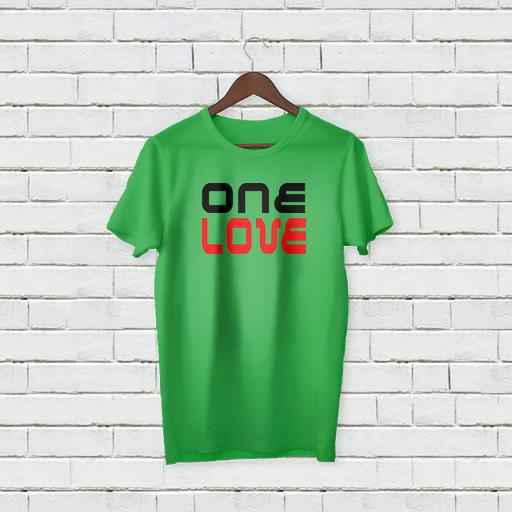 Personalised Text One Love logo On T-Shirt (1).jpg
