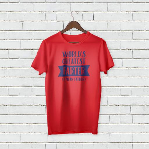 Personalised World's Greatest Farter (I Mean Father) T-Shirt - Add Your Text/Name
