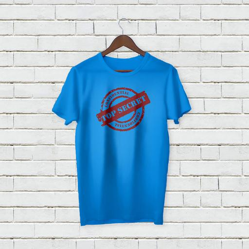 Personalised Top Secret Logo T-Shirt - Add Your Text/Name
