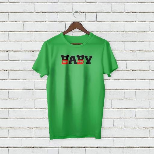Personalised Text Funny Baby Micky Mouse T-Shirt (1).jpg