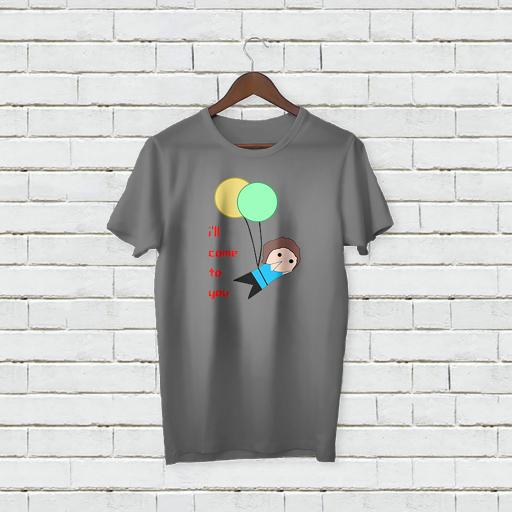 Personalised Text I'll Come to you T-shirt with balloons (4).jpg