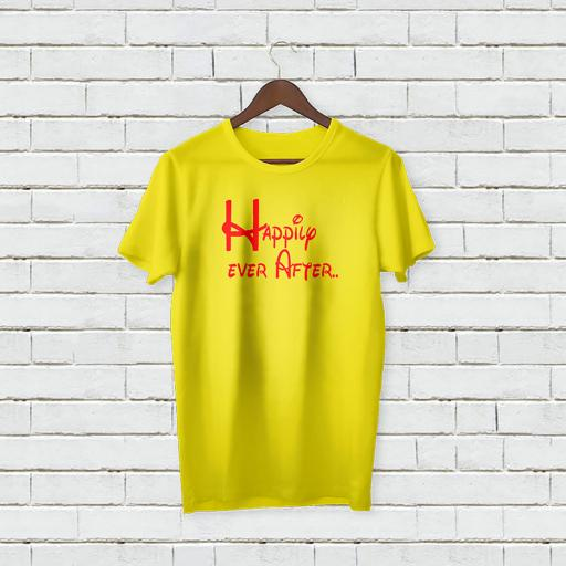 Personalised Text Happily Ever After T-Shirt (2).jpg