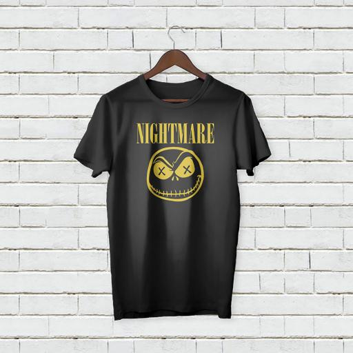 Personalised Scary Nightmare text/logo T-Shirt - Add Your Text/Name