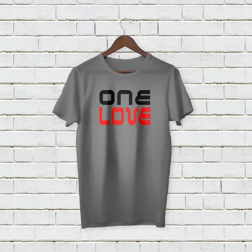 Personalised Text One Love logo On T-Shirt (4).jpg