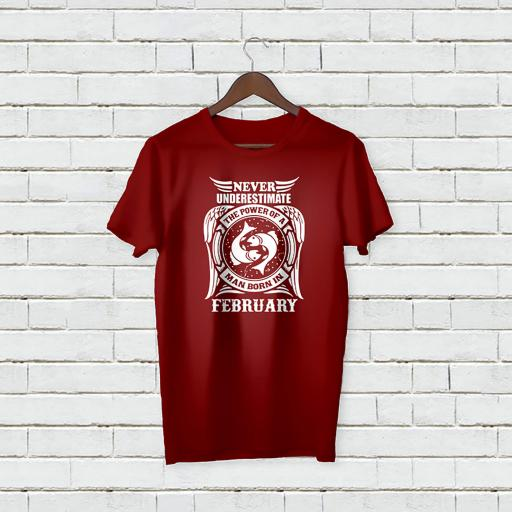 Never underestimate the power of a man born in FEBRUARY Personalised (4).jpg